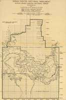 Vintage Map of The Grand Canyon (1908)