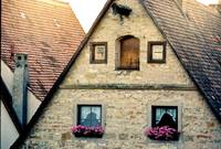 German House with flower windows