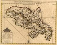 Vintage Map of Martinique Island (1742) 2