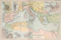 Vintage Map of The Mediterranean Sea (1891)