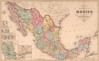 Vintage Map of Mexico (1859)