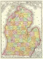 Vintage Map of Michigan (1897)