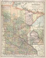 Vintage Map of Minnesota (1891)