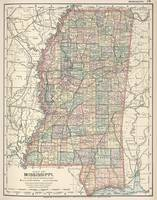 Vintage Map of Mississippi (1891)