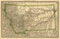 Vintage Map of Montana (1881)