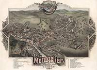 Vintage Pictorial Map of Montpelier Vermont (1884)