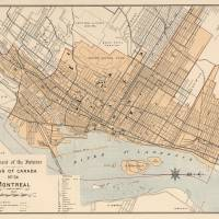 """Vintage Map of Montreal (1906)"" by Alleycatshirts"