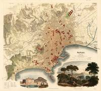 Vintage Map of Naples Italy (1835)
