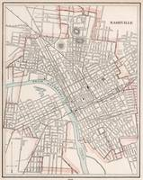 Vintage Map of Nashville Tennessee (1901)