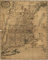 Vintage Map of The New England Coast (1771)