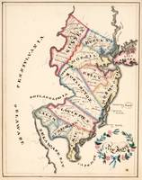 Vintage Map of New Jersey (1819)