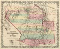 Vintage Map of New Mexico and Utah (1857)