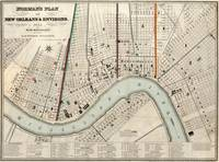 Vintage Map of New Orleans Louisiana (1845)