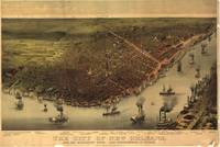 Vintage Pictorial Map of New Orleans (1885)