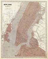 Vintage Map of New York City (1845) 2