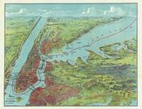 Vintage Pictorial Map of of New York City (1909)