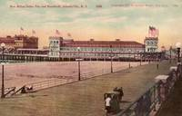 Million Dollar Pier and Boardwalk Vintage Postcard