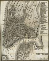 Vintage Map of New York City (1842)