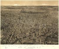 Vintage Pictorial Map of Newark NJ (1874)