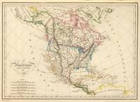 Vintage Map of North America (1837)
