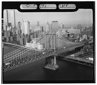 Manhattan Bridge Black and White Photograph