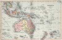 Vintage Map of Oceania (1892)