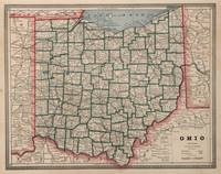 Vintage Map of Ohio (1883)