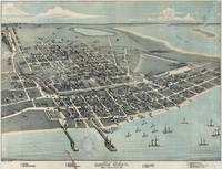 Vintage Pictorial Map of Corpus Christi TX (1887)