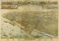 Vintage Pictorial Map of Galveston TX (1885)