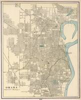Vintage Map of Omaha Nebraska (1901)