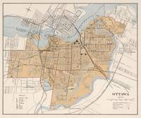 Vintage Map of Ottawa Canada (1915)