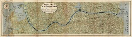Vintage Map of The Panama Canal (1886)