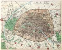 Vintage Map of Paris France (1872)