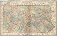 Vintage Map of Pennsylvania (1891)