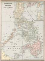 Vintage Map of The Philippine Islands (1901)