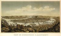 Vintage Pictorial Map of Pittsburgh PA (1874)