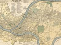 Vintage Map of Pittsburgh PA (1891)