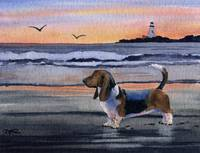 Basset Hound Sunset 2