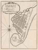 Vintage Map of Port Royal Jamaica (1764)