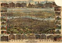 Vintage Pictorial Map of Portland Oregon (1890)