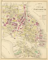 Vintage Map of Portsmouth NH (1892)