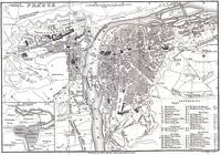 Vintage Map of Prague (1858)