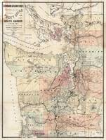 Vintage Map of The Puget Sound (1891)