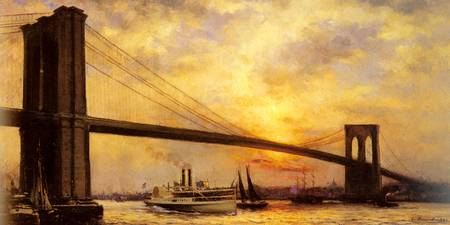 View of The Brooklyn Bridge by Emile Renouf