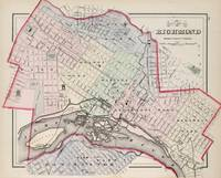Vintage Map of Richmond Virginia (1884)