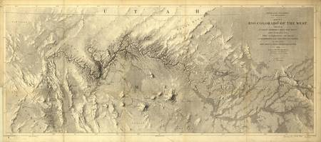 Vintage Map of The Colorado River (1858)