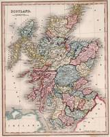 Vintage Map of Scotland (1832)