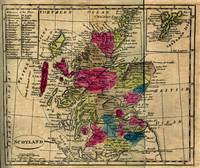 Vintage Map of Scotland (1808)