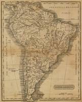 Vintage Map of South America (1825)