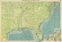 Vintage Map of The Southeastern U.S. Ports (1922)